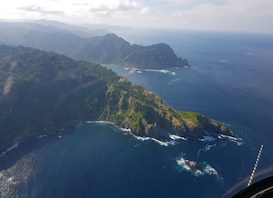 Aerial view of Lombok Coast